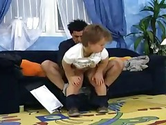 German midget gets fucked