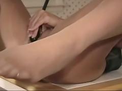 Slut in pantyhose