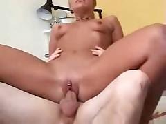 Sexy cheerleader riding cock