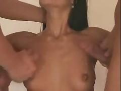 Bisex mmf - 2 bi studs licking and sharing own cum