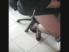 Matilde orgasm in pantyhose black ultrasheer 8D