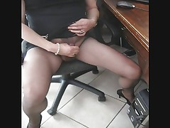 Matilde orgasm in pantyhose black ultrasheer 8D