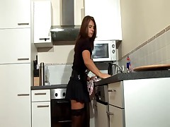 Milf fucked in the kitchen
