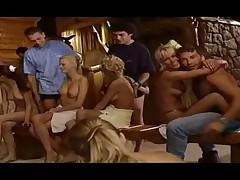 Teen sauna orgy
