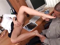 Cute Teen Cindy Gives A Foot Job