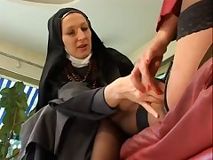 Mature fisting nun.