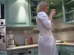 My stepmother in the kitchen early morning