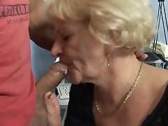 Granny in Pantyhose Fucks by TROC