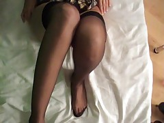 Lipstick Blowjob Fuck Fully Fashioned Nylons Footjob Cum