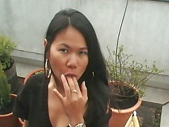 Smoking blowjob