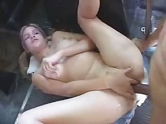 Babe get anal on bus
