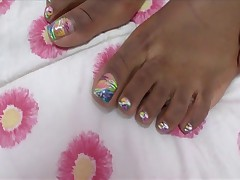 Ebony Girl Footjob 8