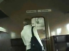 Amateur blowjob in a train full of people