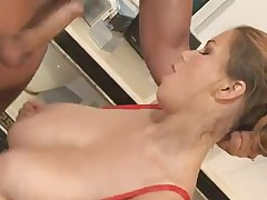 Terry nova fucked on kitchen counter