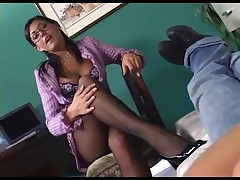 Fantastic footjob and anal