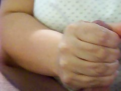 Mature wife footjob with an increment of handjob