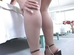 Danish sexy pantyhose teaser Kira