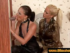 High society girls at the gloryhole