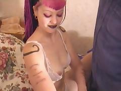 Goth emo girl