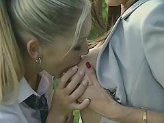 Lesbian Teachers Punish Smoking Schoolgirls