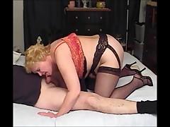 Nasty Auntie Fanny's Seductive Footjob