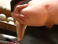 Big boobed French lady fucked hard in the kitchen