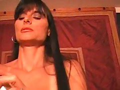 Hot Busty Smoking Mature Brunette Rides Cock