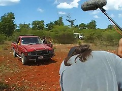Making the movies Indiana Mack and Santo Domingo