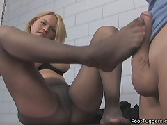 Sexy Footjob With Pantyhose