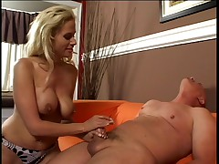 Hot Blonde Kylie G. Worthy Smoking Blowjob and Jerk