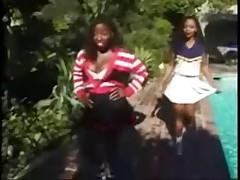 Vanessa and Kitten - Ebony Cheerleaders FFM