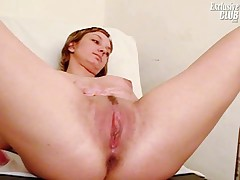 Marie pussy exam with gyno tools at clinic