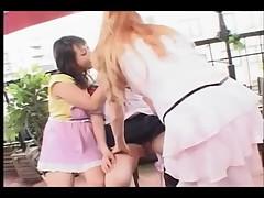 Brazilian lesbian teacher and her Japanese students part 1