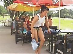 Public Flashing Hot Lil Bitch