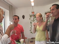 She have lesbian fun with her BF's parents