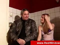 Blonde hooker in Amsterdam