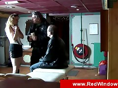Two guys visiting a whore in Amsterdam