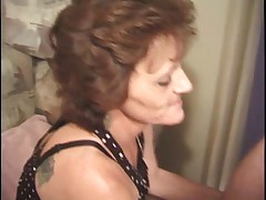 Granny does it all anal
