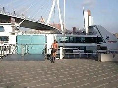 Dutch couple having fun in Rotterdam