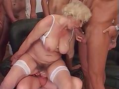 Granny Norma Gangbang