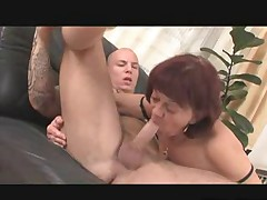 Granny with her Big Toy and small Cock