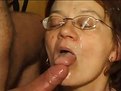 Granny Gets Her Cunt Fucked And Glasses Creamed !
