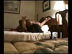 Swinger wife slut creampied by black man in motel - snake