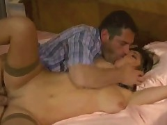 Husband watching gardener and maid fucking his wife