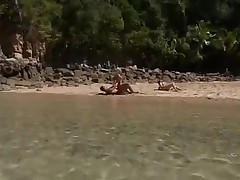 BEACH SEX WITH TWO SEXY CHICKS  - JP SPL