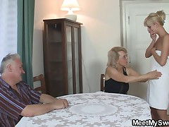 GF in threesome with bf's parents
