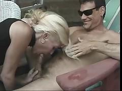 Hot Mature Blonde Cougar Dallas Banging Poolside