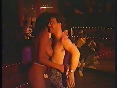 Strip show in the disco