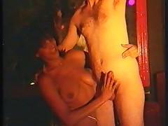 Strip show in the disco