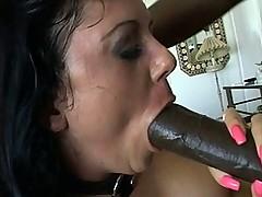 Blow Job - Anal - Big Cock Black - Brunette - Suck